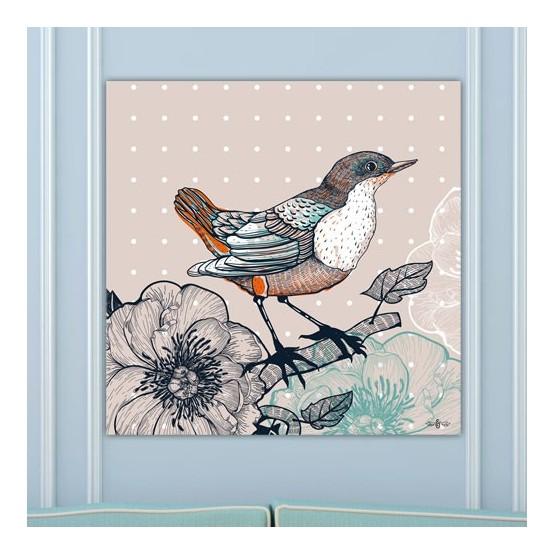 Tableau Oiseau Champetre
