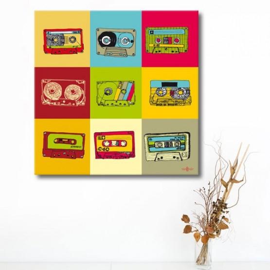 Tableau Cassettes retro