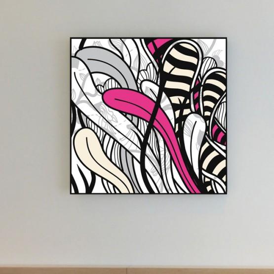 Tableau Fleurs Graphiques Pop Art