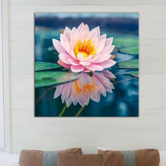 tableau fleur de lotus d coration zen et nature. Black Bedroom Furniture Sets. Home Design Ideas