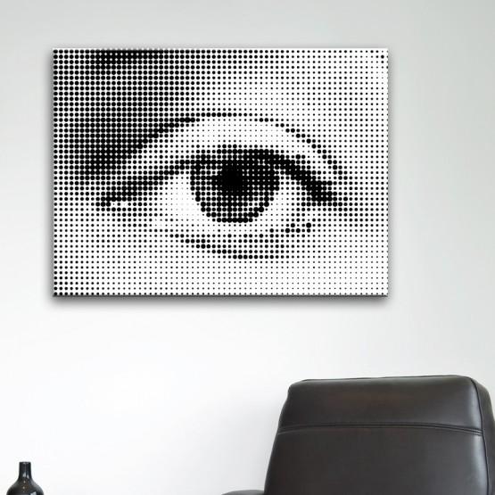 Tableau Design Oeil Monochrome