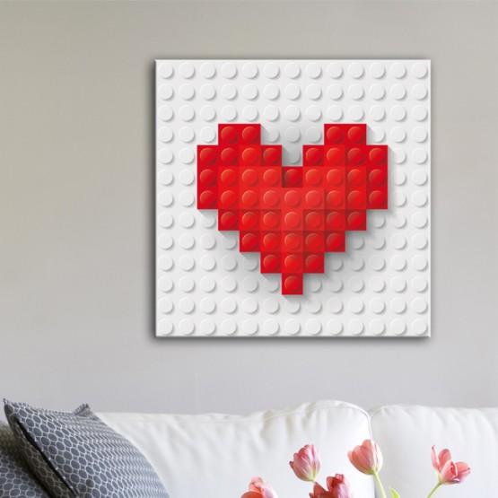 Tableau Coeur en Lego