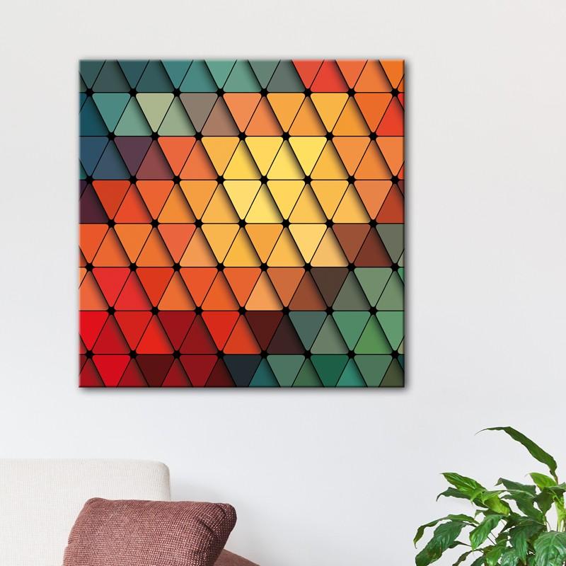 tableau triangles design d coration murale. Black Bedroom Furniture Sets. Home Design Ideas