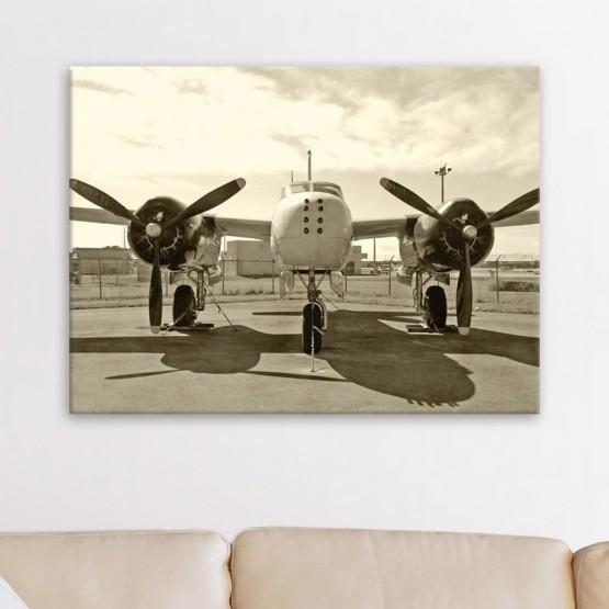 Tableau Avion Retro