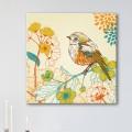 Tableau Oiseau sur Branche Fleurie