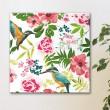Tableau Colibris & Fleurs Tropicales