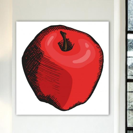 Tableau Pop Art Pomme Graphique