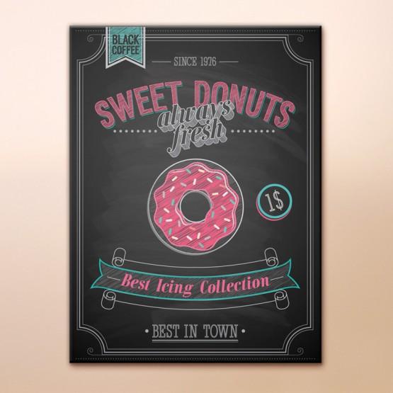 Tableau Vintage Sweet Donuts