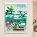 Tableau Vintage Summer Tropical Bar
