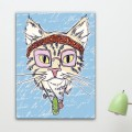 Tableau Hippie Cat