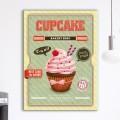 Tableau Vintage Red & Green Cupcake
