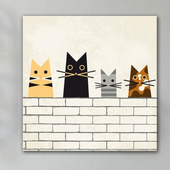Tableau Chats sur le Mur
