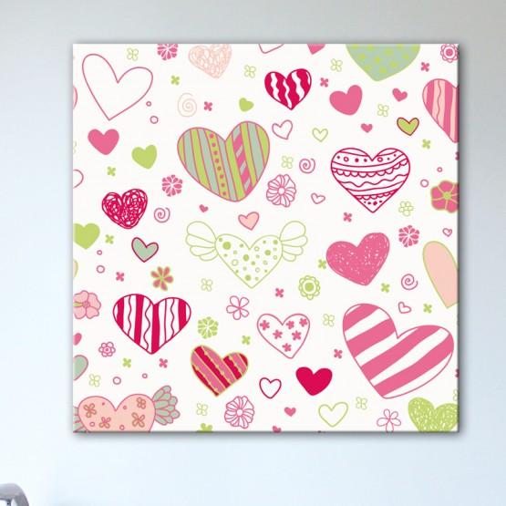 Tableau Coeurs façon Bonbons