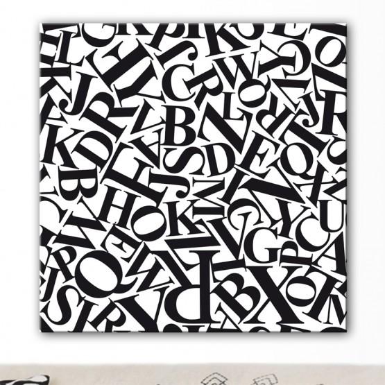 Tableau Texte Lettres Design