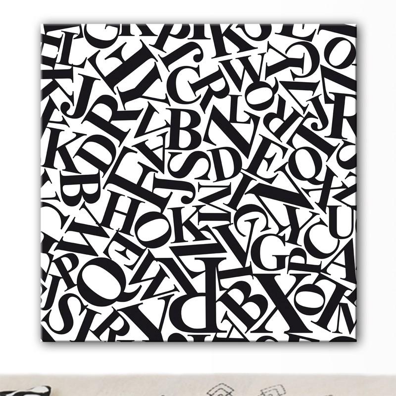 tableau moderne texte lettres design. Black Bedroom Furniture Sets. Home Design Ideas