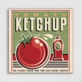 Tableau Vintage Tomato Ketchup