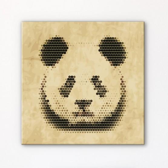 Tableau Panda en Mosaïque
