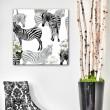 Tableau Zebre et Fleur d'Orchidée