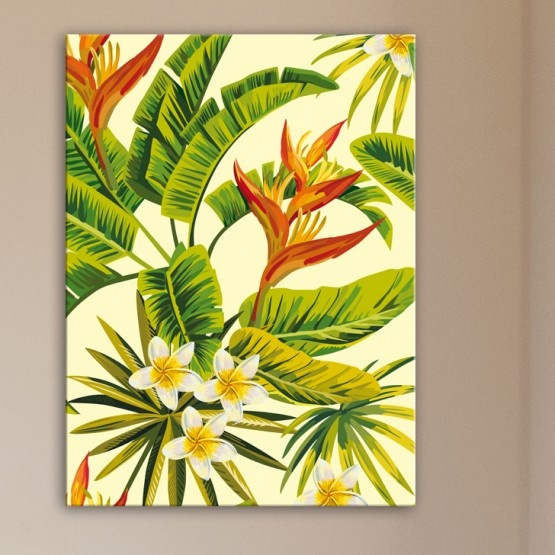 Tableau Fleurs Exotiques Oiseau De Paradis