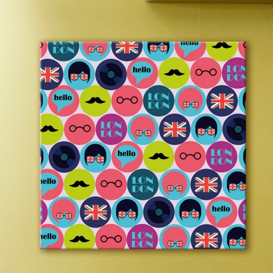 Tableau Pop Art London Style