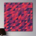 Tableau Abstrait Géométrique Rouge Violet