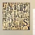 Tableau Design Lettres Western