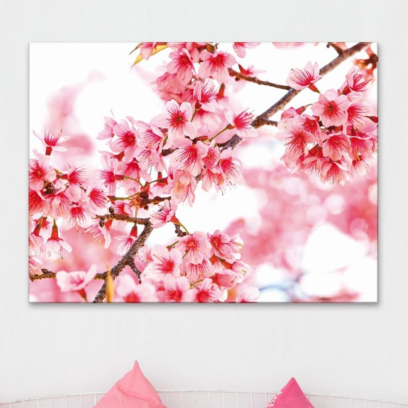 tableau branches de cerisier en fleur. Black Bedroom Furniture Sets. Home Design Ideas