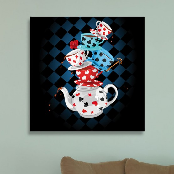 Tableau Tasses de thé Alice