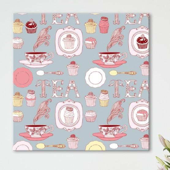 Tableau Déco Tea Time et Cupcakes