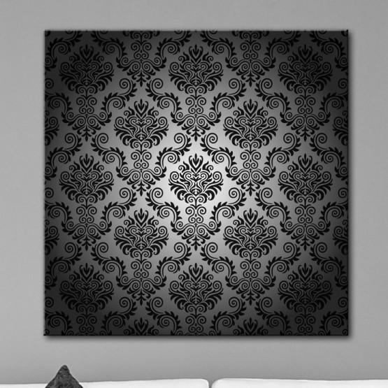 Tableau Style Baroque Noir et Gris