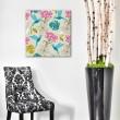 Tableau Moderne Fleurs et Colibris