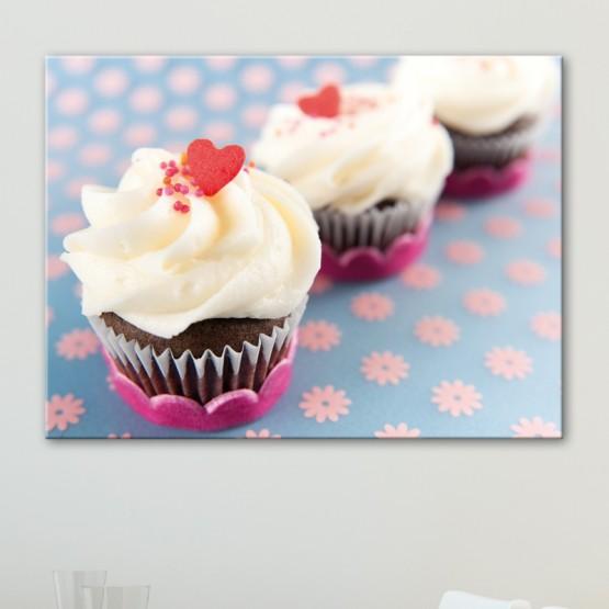 Tableau Cupcakes Coeur Déco Cuisine