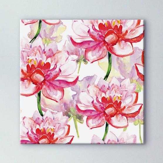 Tableau Lotus à l'Aquarelle