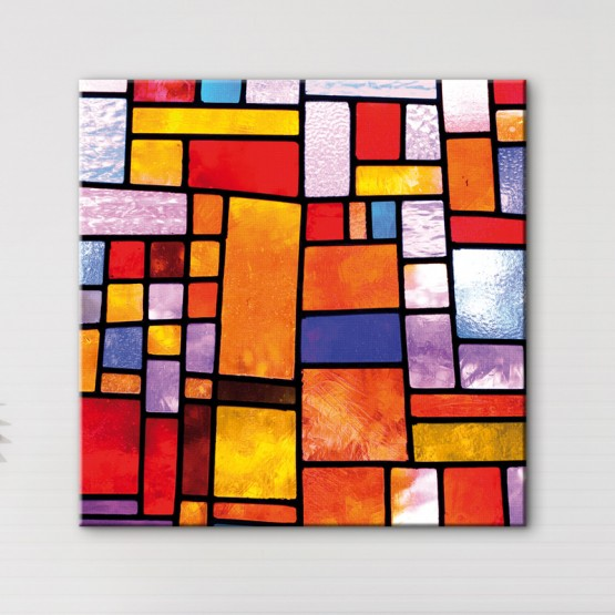 Tableau Vitrail Façon Mondrian