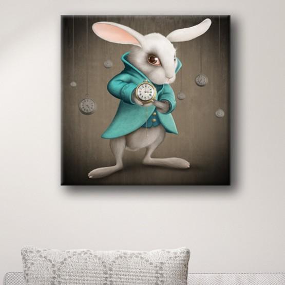 Tableau Le Lapin Blanc d'Alice