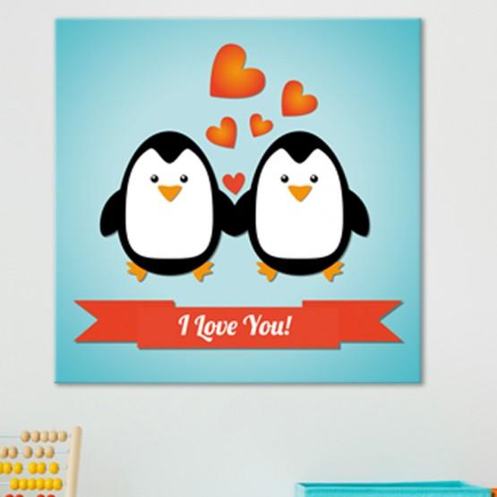 Tableau Couple Pingouins