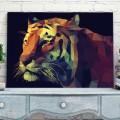 Tableau Tigre géométrique