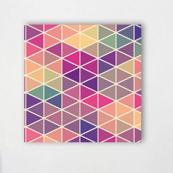 Tableaux Triangles couleurs chaudes - Décoration contemporaine