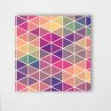 Tableaux Triangles couleurs chaudes