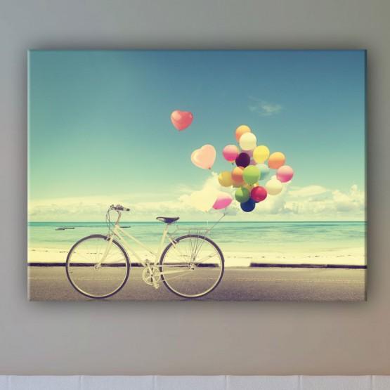 Tableau Vélo aux ballons