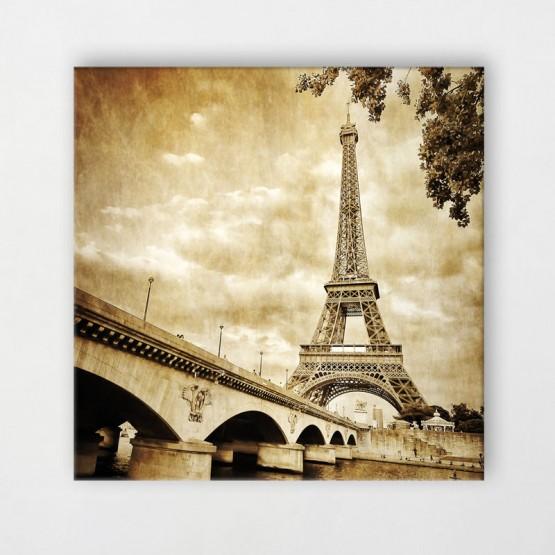 Tableau Tour Eiffel Retro