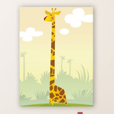 Tableau Girafe dans la Savane