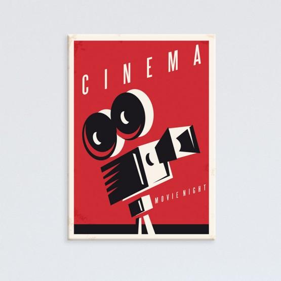 Tableau affiche de cinéma projecteur à bobines - Oh Mon Tableau