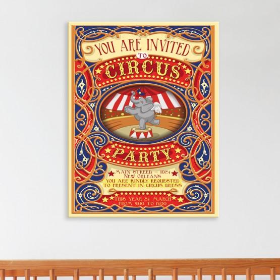 Tableau Affiche de Cirque
