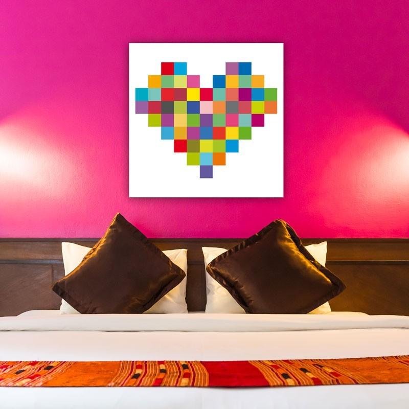 Tableau Coeur En Pixel Tableau Pixel Art Numérique